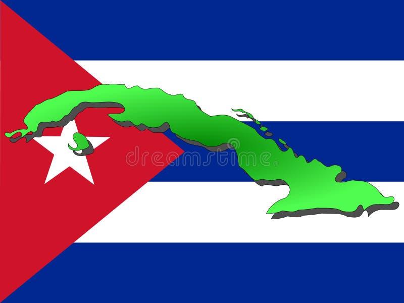 Correspondencia de Cuba ilustración del vector