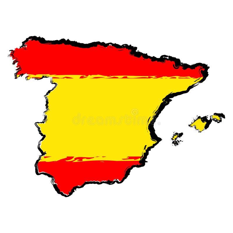 Correspondencia de España con el indicador ilustración del vector
