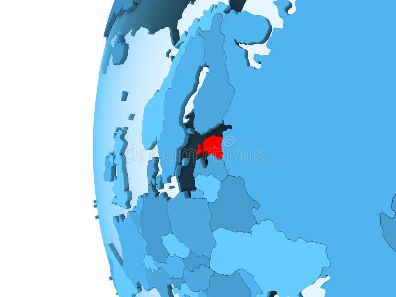 Correspondencia de Estonia stock de ilustración