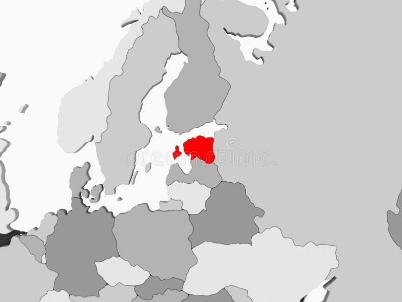 Correspondencia de Estonia ilustración del vector