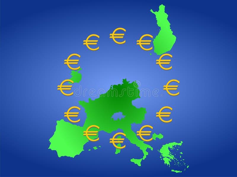 Correspondencia de Euroland ilustración del vector