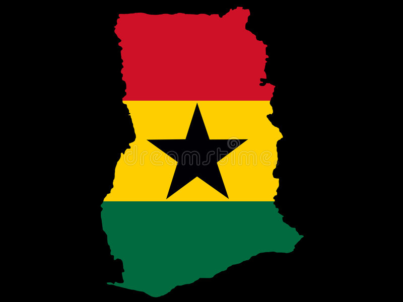 Correspondencia de Ghana ilustración del vector