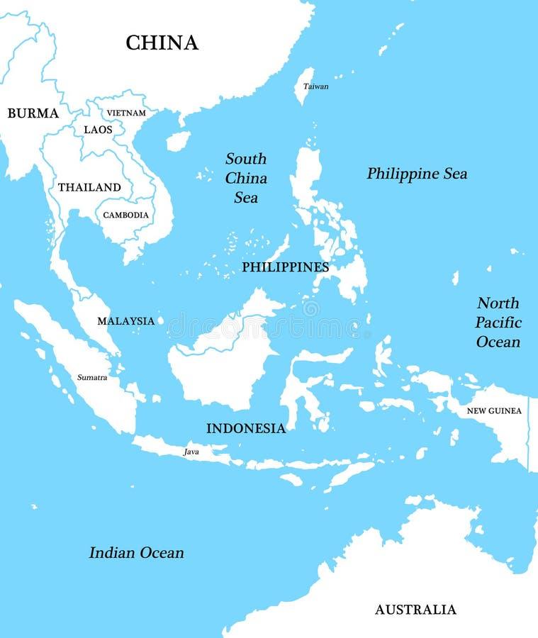 Correspondencia de Indonesia stock de ilustración