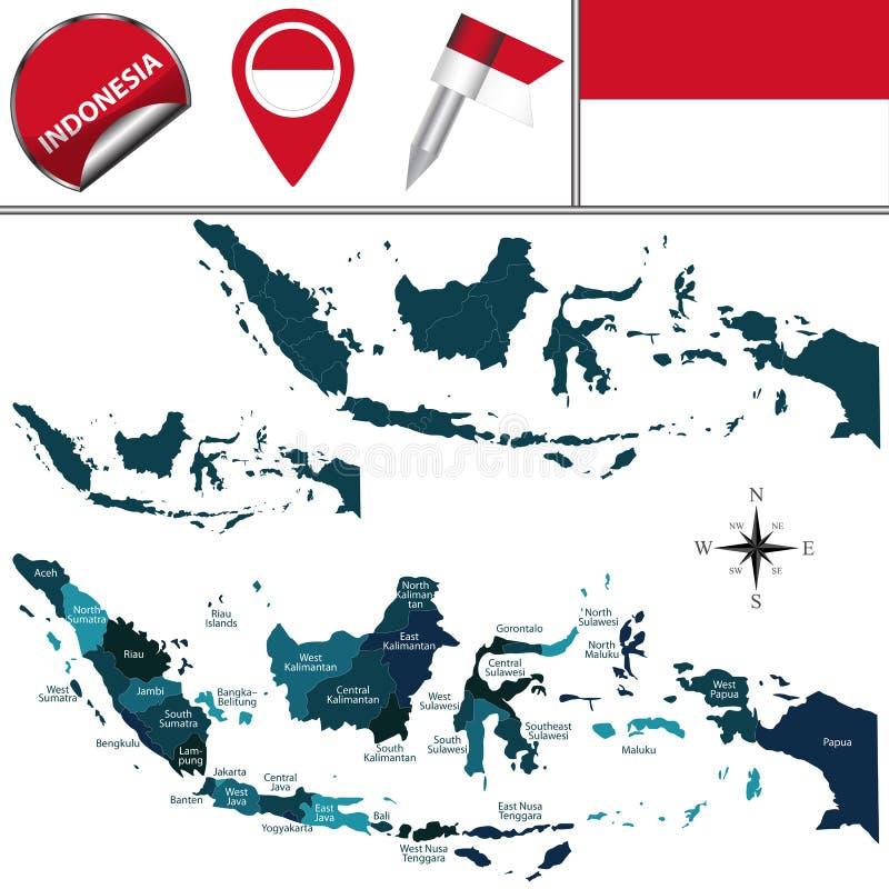 Correspondencia de Indonesia ilustración del vector