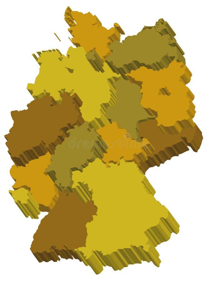 Correspondencia de la administración de Alemania del vector stock de ilustración