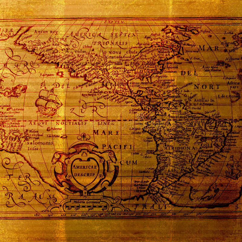 Correspondencia de la cartografía del Viejo Mundo - fondo sucio imagen de archivo libre de regalías