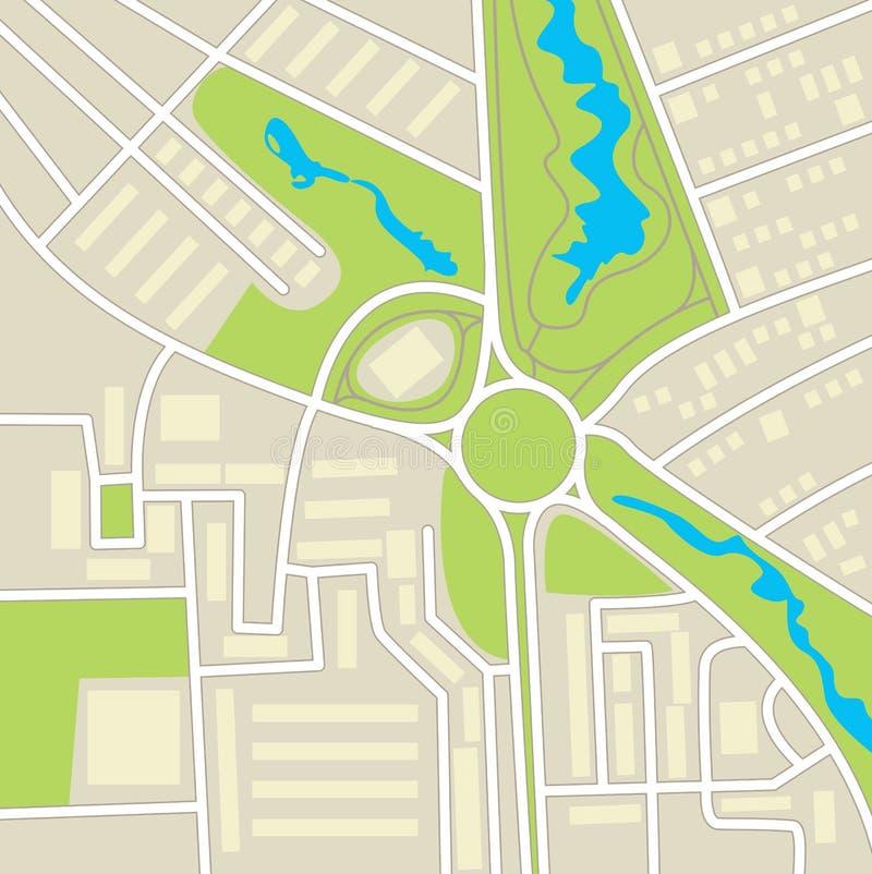 Correspondencia de la ciudad ilustración del vector