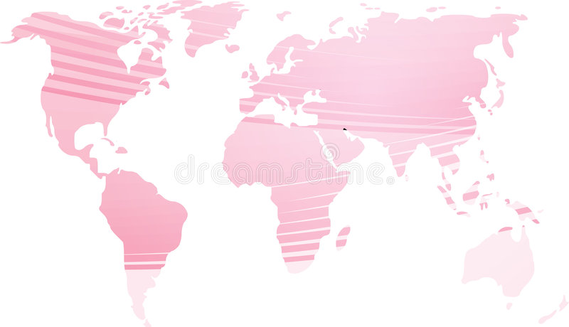Correspondencia de la ilustración del mundo stock de ilustración