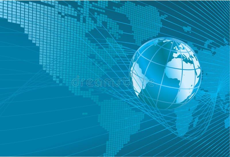 Correspondencia de la palabra del globo de la tierra Backgr stock de ilustración