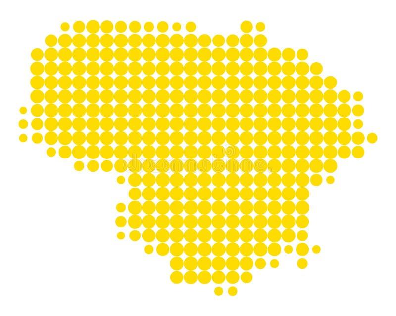 Correspondencia de Lituania ilustración del vector