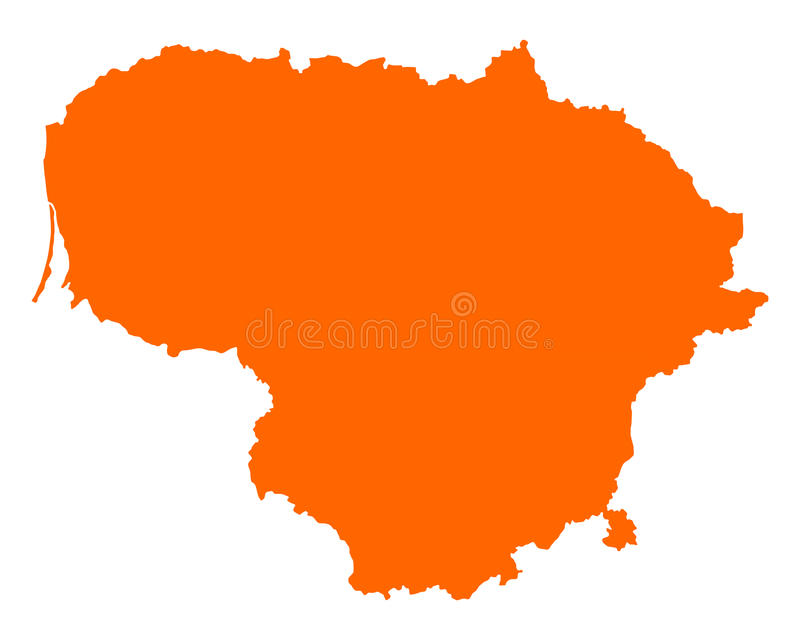 Correspondencia de Lituania stock de ilustración