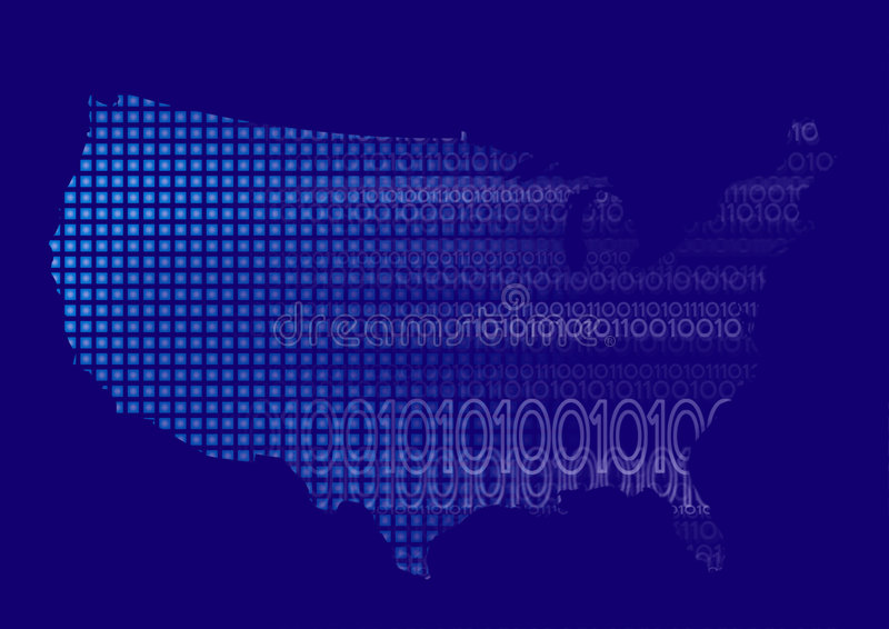 Correspondencia de los E.E.U.U. con código binario libre illustration