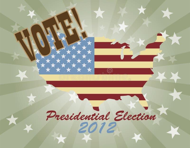Correspondencia de los E.E.U.U. de la elección presidencial 2012 del voto ilustración del vector