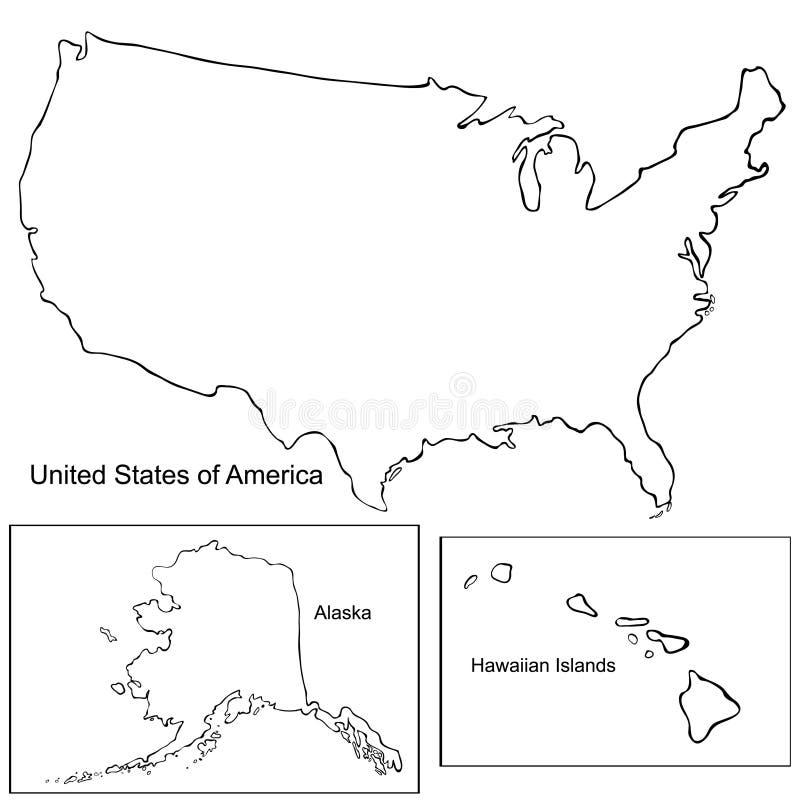 Correspondencia de los Estados Unidos de América Ilustración del vector ilustración del vector