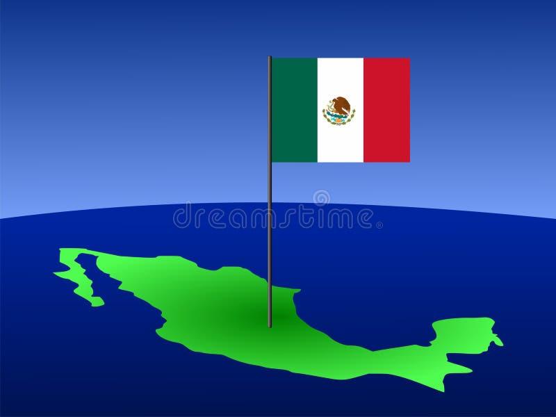 Correspondencia de México con el indicador ilustración del vector