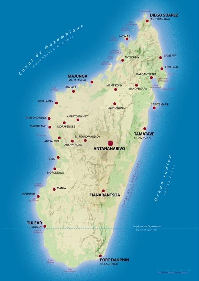 Correspondencia de Madagascar foto de archivo libre de regalías