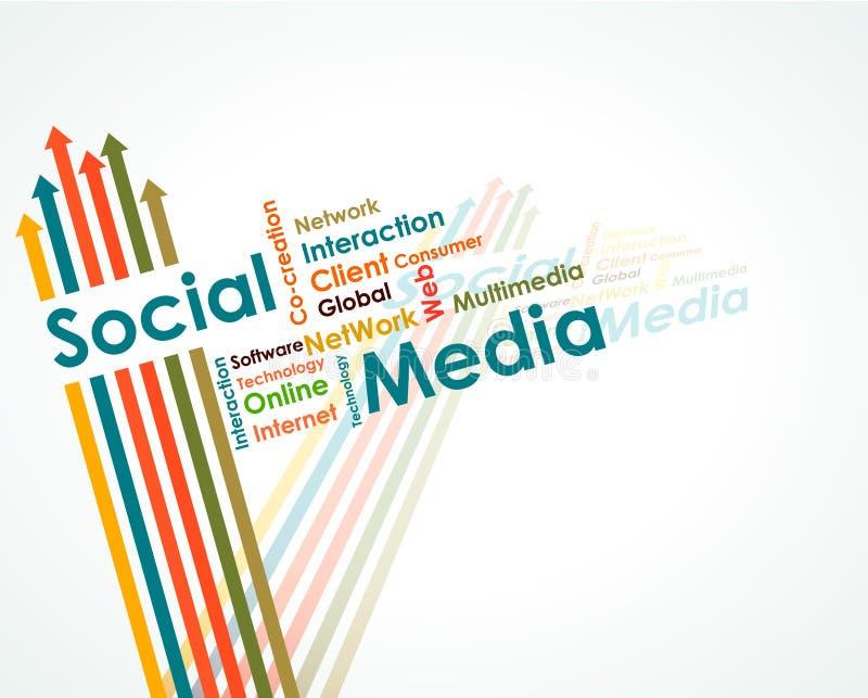 Correspondencia de mente social de los media libre illustration