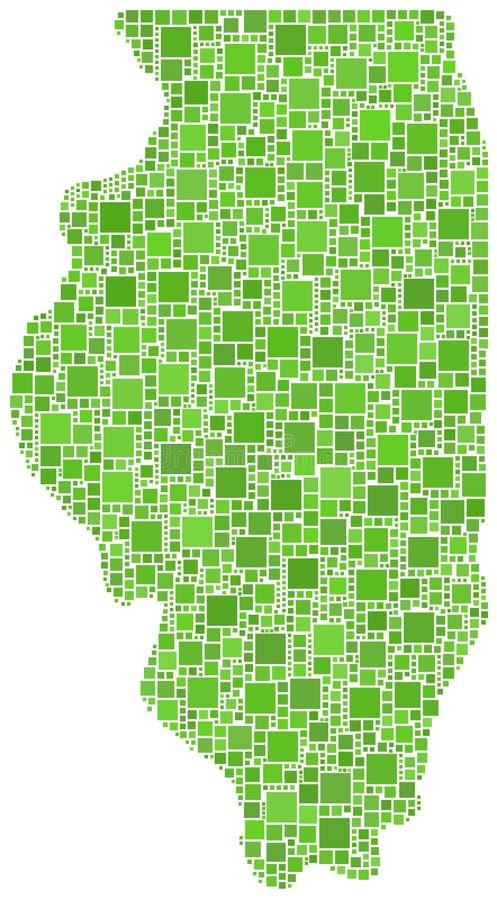 Correspondencia de mosaico verde de Illinois