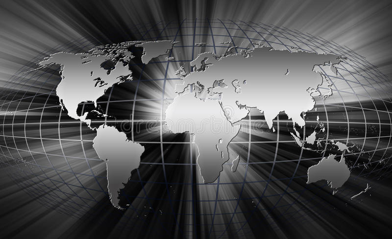 Correspondencia de mundo. ilustración del vector