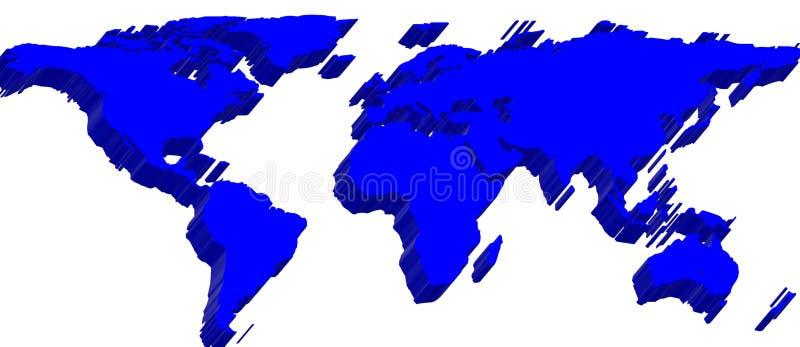 correspondencia de mundo 3d libre illustration