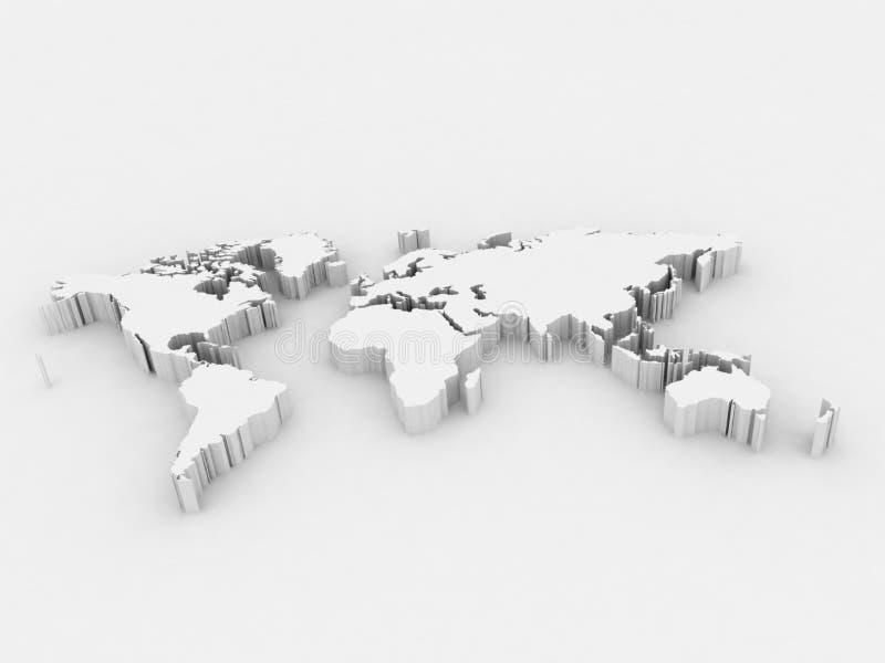 Correspondencia de mundo ilustración del vector