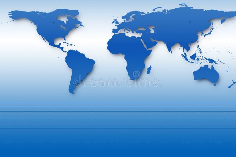 Correspondencia de mundo azul ilustración del vector