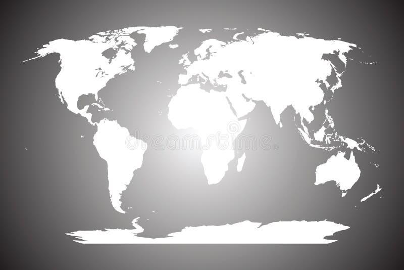 Correspondencia de mundo blanca libre illustration