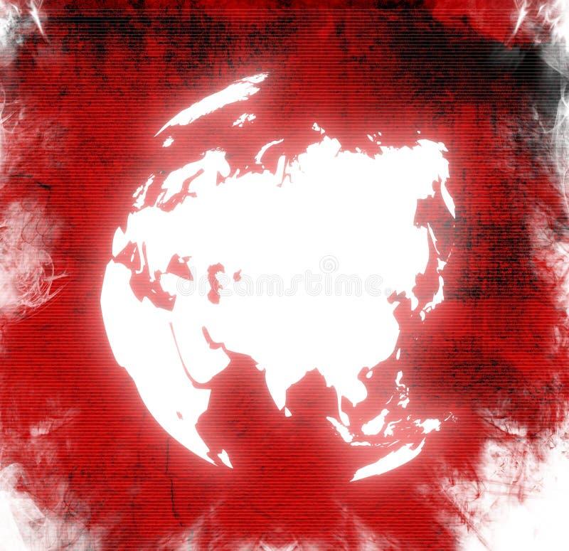 Correspondencia de mundo - correspondencia de Asia libre illustration