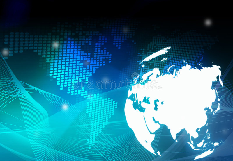 Correspondencia de mundo - correspondencia de Asia stock de ilustración