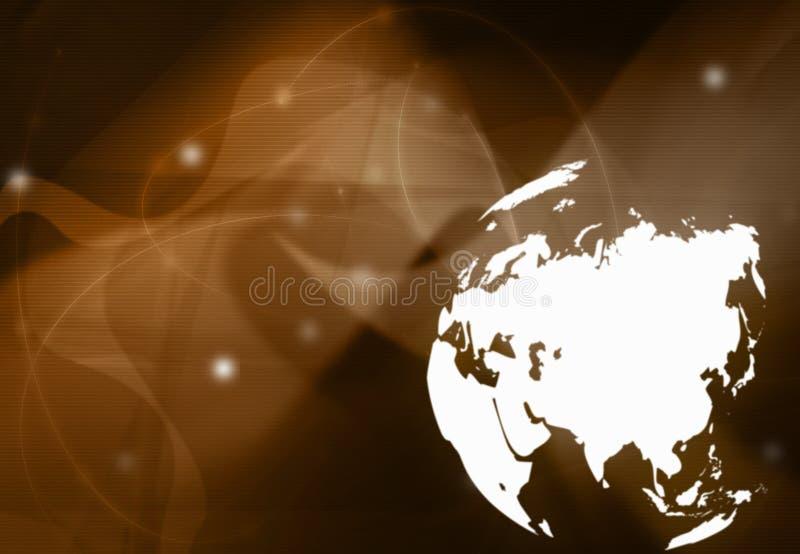 Correspondencia de mundo - correspondencia de Asia ilustración del vector