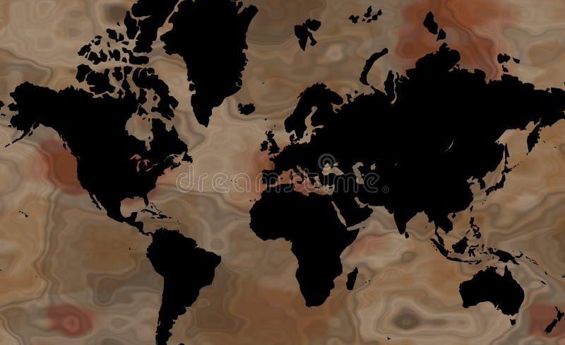 Correspondencia de mundo de Brown stock de ilustración