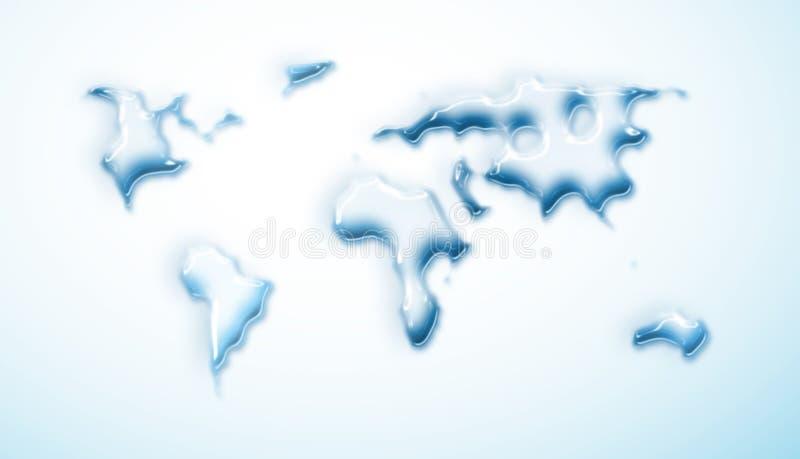 correspondencia de mundo de la Agua-gota ilustración del vector