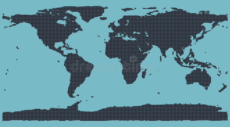 Correspondencia de mundo de la matriz de punto stock de ilustración