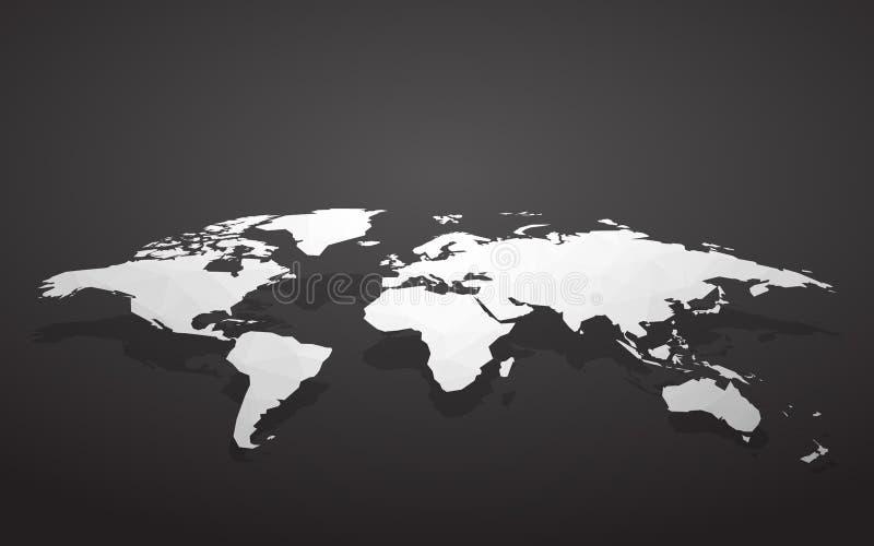 Correspondencia de mundo en blanco ilustración del vector