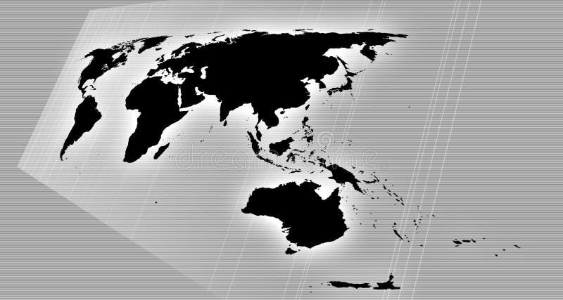 Correspondencia de mundo en perspectiva ilustración del vector