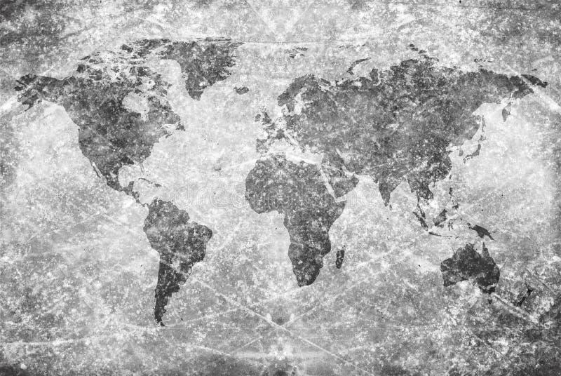 Correspondencia de mundo envejecida de la vendimia libre illustration