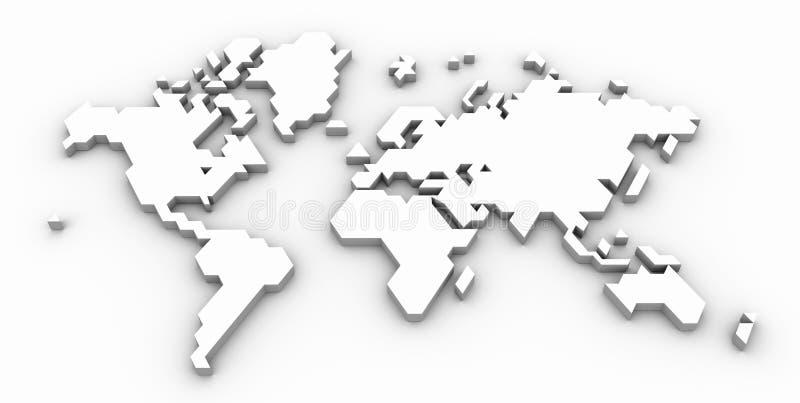 Correspondencia de mundo estilizada ilustración del vector