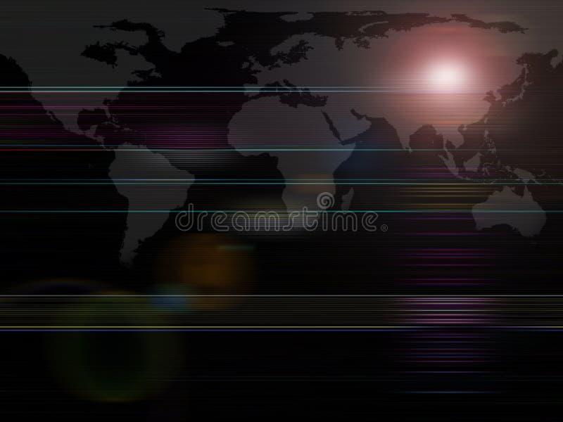 Correspondencia de mundo global de las series del fondo ilustración del vector