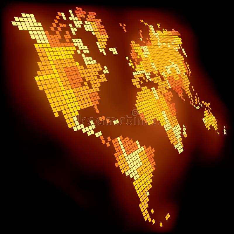 Correspondencia de mundo luminosa ilustración del vector