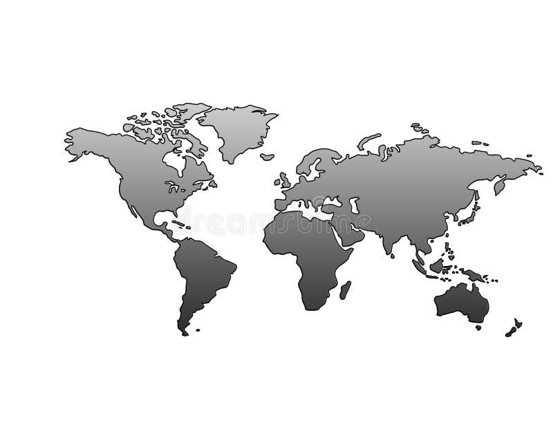 Correspondencia de mundo (metálica) ilustración del vector