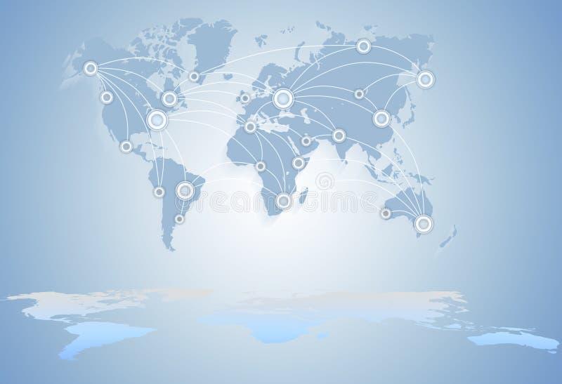Correspondencia de mundo negocio global entre los estados libre illustration
