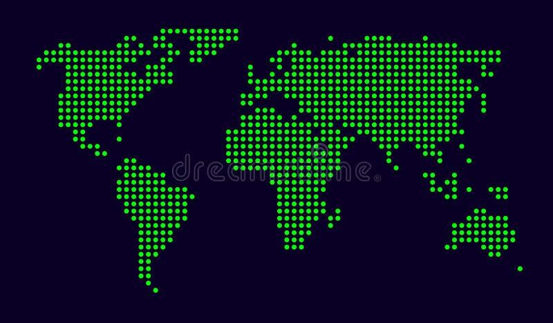 Correspondencia de mundo punteada ilustración del vector