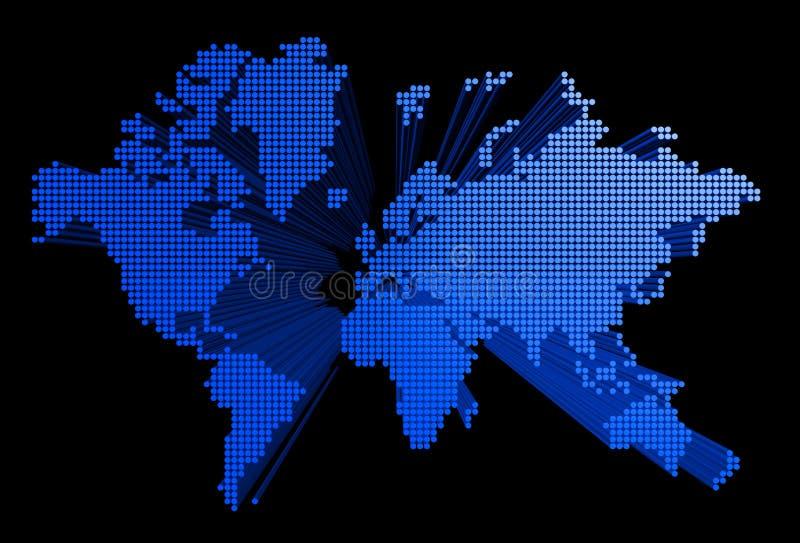 Correspondencia de mundo tridimensional ilustración del vector
