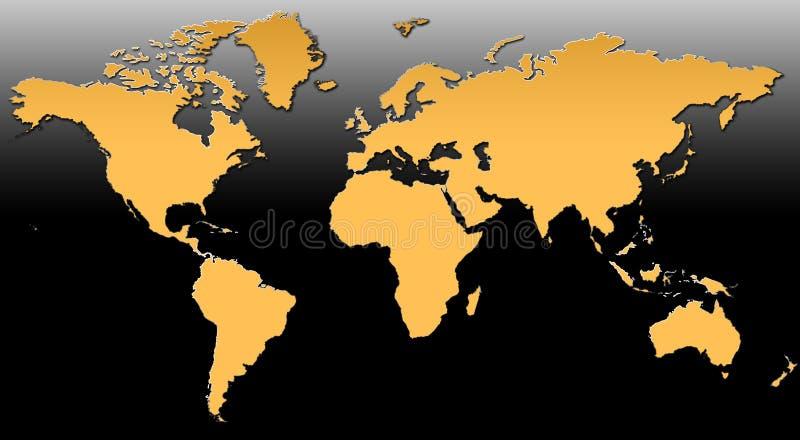 Correspondencia de mundo XV stock de ilustración