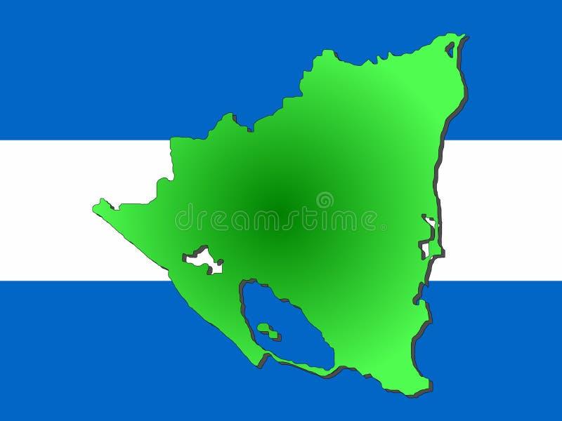 Correspondencia de Nicaragua stock de ilustración