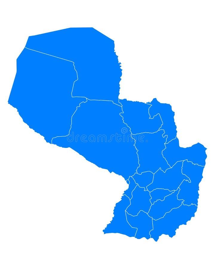 Correspondencia de Paraguay ilustración del vector