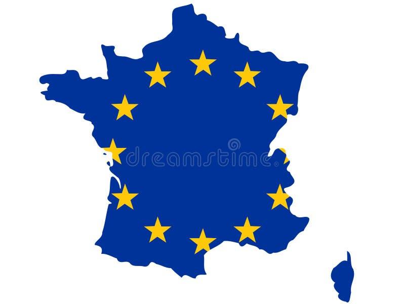 Correspondencia de Republic Of France stock de ilustración