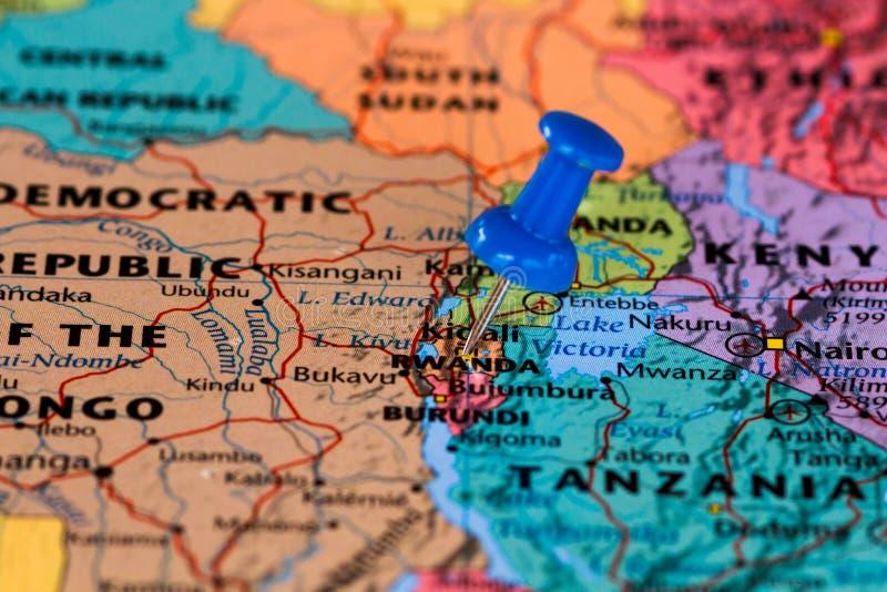 Correspondencia de Rwanda imagenes de archivo