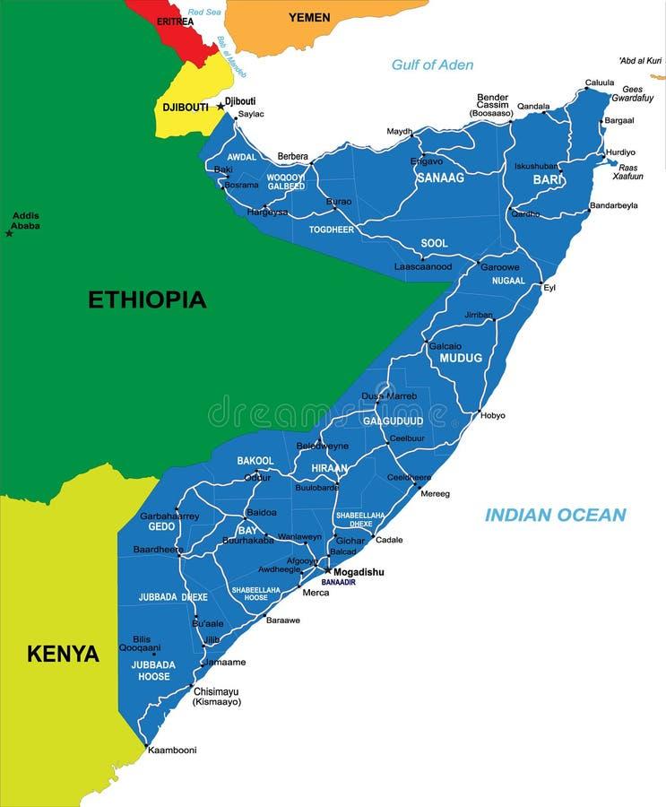 Correspondencia de Somalia ilustración del vector