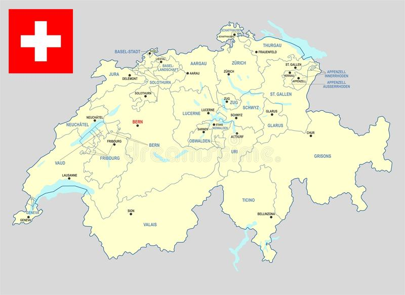 Correspondencia de Suiza stock de ilustración